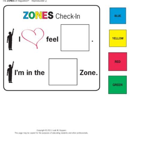 printable zones of regulation 36 best images about zones of regulation on pinterest