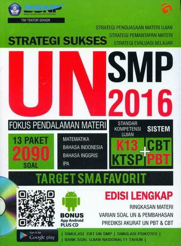 Buku Fokus Un Smp 2016 bukukita strategi sukses un smp 2016 fokus