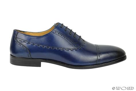office shoes oxford opening times new mens real leather lace up oxford shoes blue smart