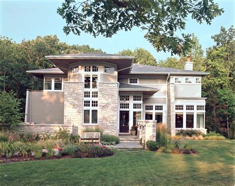 Frank Lloyd Wright Inspired Home Plans Elegant Prairie Contemporary Exterior Chicago By