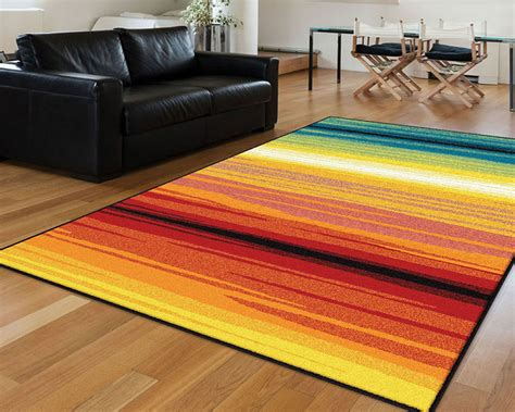 multi colored striped area rugs multi color contemporary striped lines bars synthetic outdoor rows area rug ebay