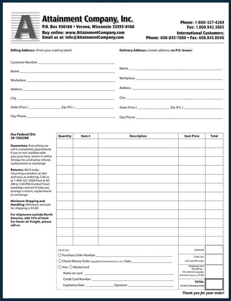company order form template accessories purchase order form template autos post