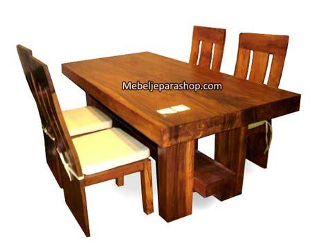 Meja Makan Kayu Trembesi Utuh kursi makan meja trembesi minimalis mjs furniture