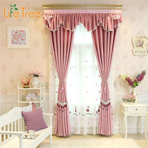 cute curtains for girls room pink cute cartoon printed curtains for girls bedroom kids