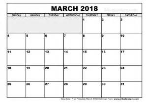 Calendar 2018 Pdf In March 2018 Calendar Pdf Calendar Printable Free