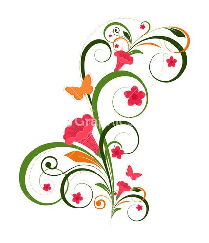 decorative flower designs clipart best