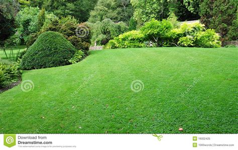 Garten Rasen Stockbild Bild Invest G 228 Rten Auslegung