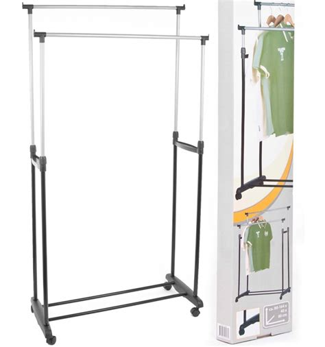 mobile clothes rack rail