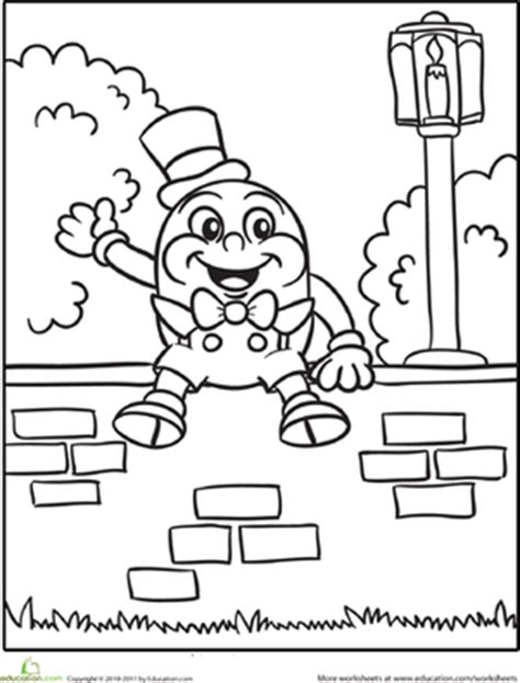 humpty dumpty worksheet education com