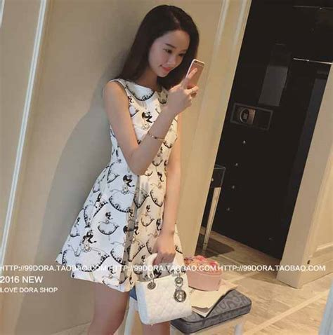 Preorder Dress Wanita Import High Quality 37 mini dress putih bermotif cantik 2016 jual model