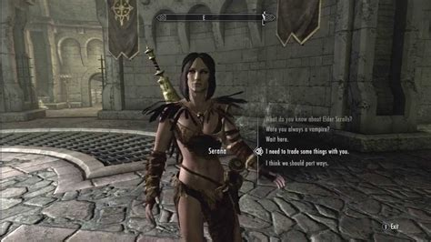 skyrim hot to cure virism skyrim serana in sexy forsworn armor youtube