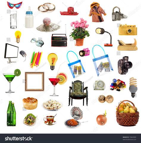 house stuff house things on white background stock photo 73843909 shutterstock