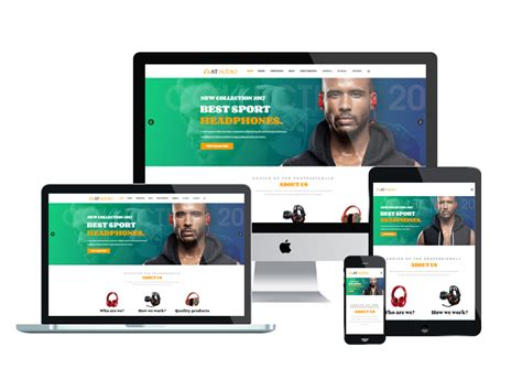 At Audio Free Responsive Audio Website Template Age Themes Speaker Website Templates
