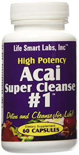 Acai Detox Reviews by Acai Cleanse 1 Tm Highly Potent 60 Capsules