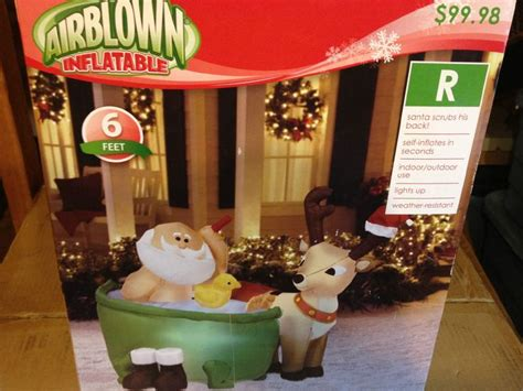 Santa In A Bathtub Animated Santa In Bathtub W Duck Christmas Airblown