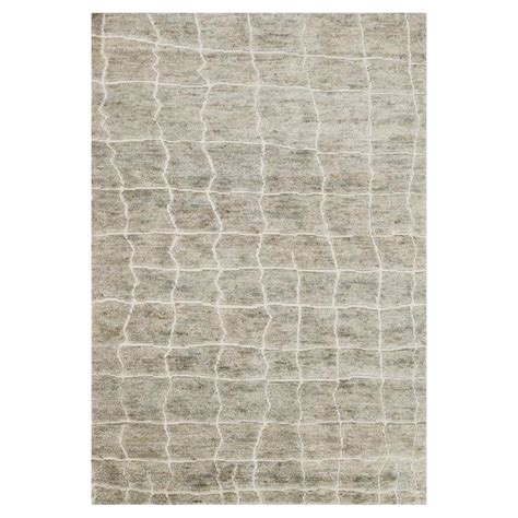 4x6 Jute Rug by Robar Industrial Rustic Grey Birch Jute Wool Rug 4x6