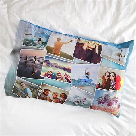 personalized pillow cases with photo and custom collage
