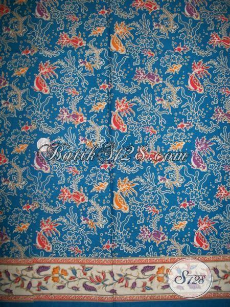 Kain Batik Garutan Warna Biru motif kain batik terbaru motif ikan trend kain batik warna biru di tahun 2014 k1399p toko