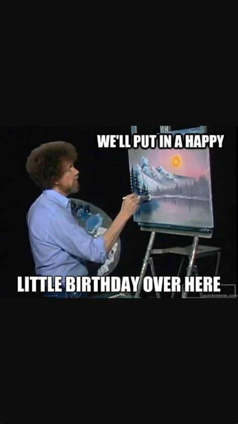 Bob Ross Happy Birthday Card
