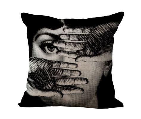 cuscini fornasetti pillow decor cotton linen cushion cover for vintage
