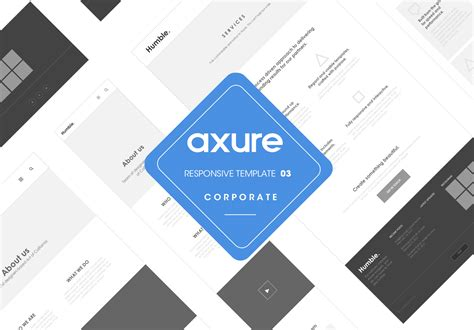 axure tablet template axure responsive template corporate website