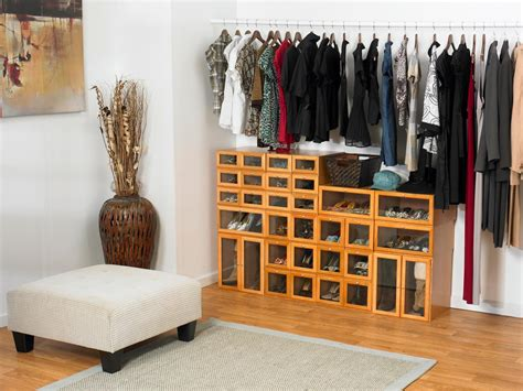 storage ideas for shoes shoe cubbies for closets hgtv