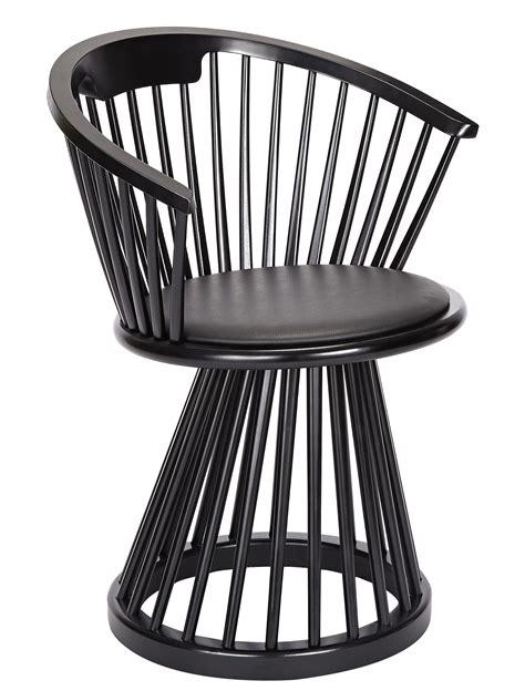 armchair fan fan armchair h 78 cm wood leather black black