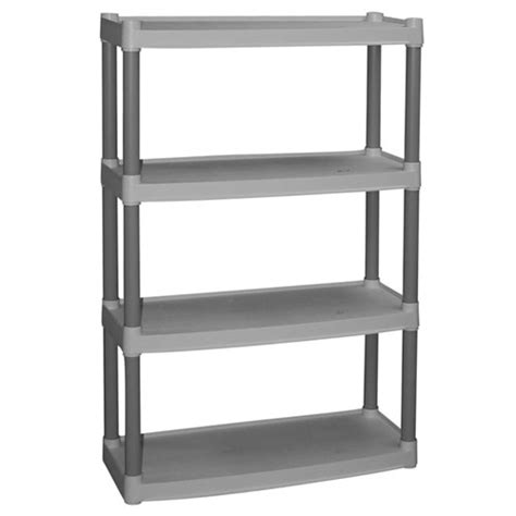 plano 4 shelf storage unit light taupe walmart com