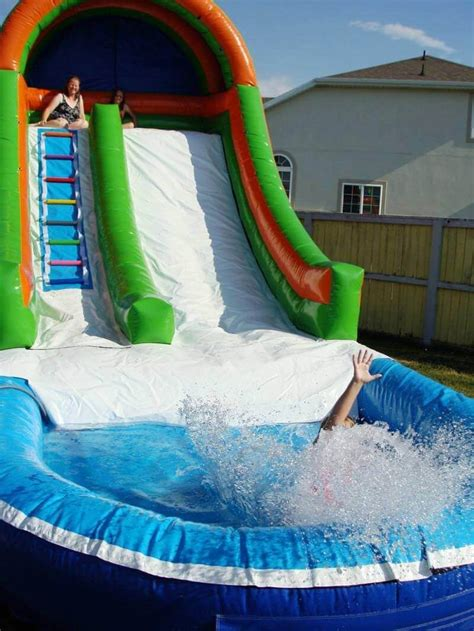 water slide backyard inflated water slides backyard backyard water slide