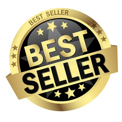 Best Seller Fingerprint Magic Fiface button with banner best seller stock vector illustration of label best 59461879