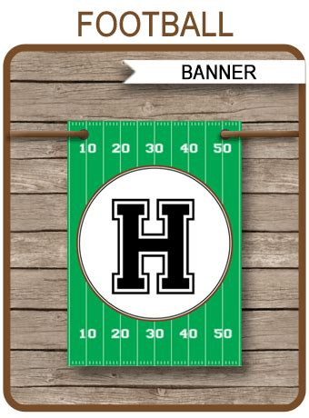 football party banner template birthday banner