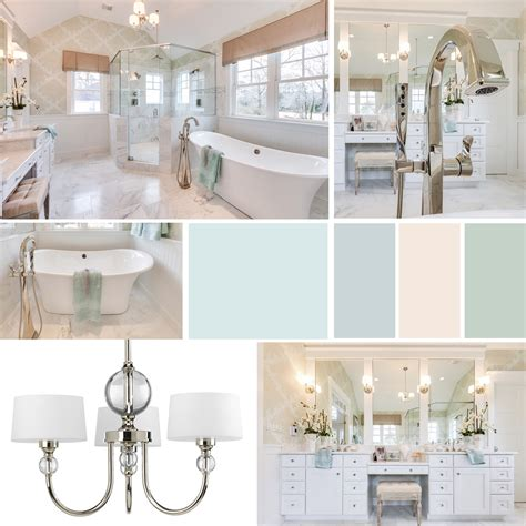 Bathroom Lighting Trends Progress Lighting Idea Board A Soothing Master Bathroom Inspired By The Sea