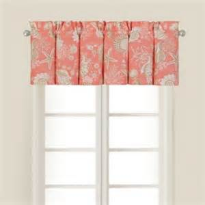 Contemporary Valance Curtains Shells Window Valance In Coral Contemporary Valances By Bed Bath Beyond