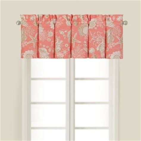 Coral Valance Curtains Shells Window Valance In Coral Contemporary Valances By Bed Bath Beyond