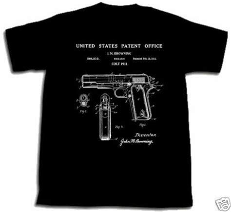 T Shirt Pistols 1 colt 1911 pistol patent shirt m tshirt gun 45 cal med