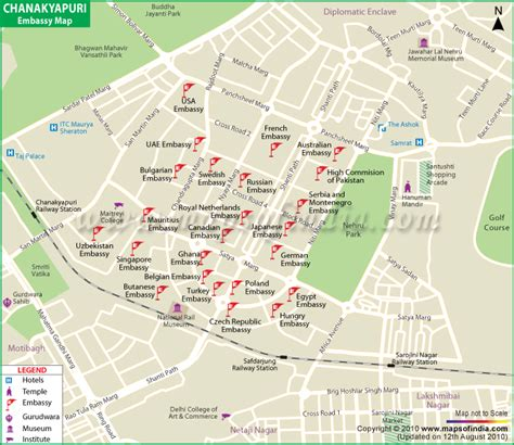 road map us embassy new delhi chanakyapuri embassy map