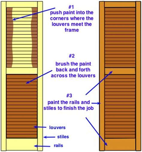 How To Paint Louvered Closet Doors Best 25 Painting Shutters Ideas On Pinterest Shutter Colors House Shutter Colors And Paint