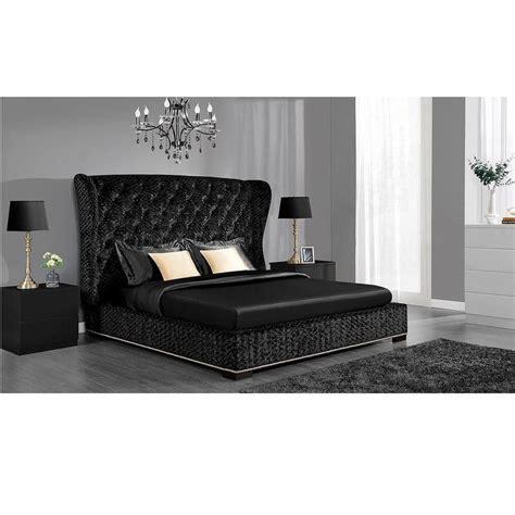 DHP Luxe Premium Black Velvet Upholstered Bed