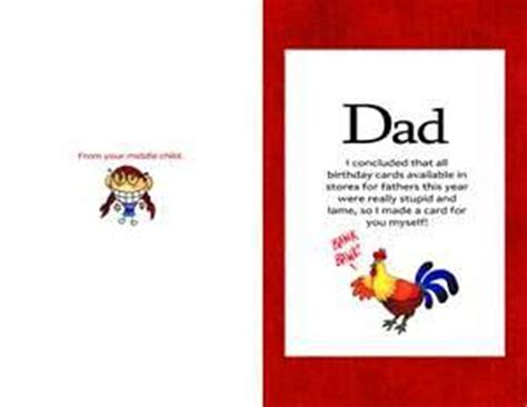printable birthday cards father 8 best images of funny printable birthday cards dad