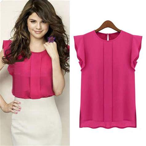 Big Sale Basic Chiffon Blouse Terhemat feitong s tunic tops chiffon blouse blusas mujer sale top formal blouses solid