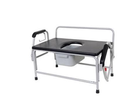 Large Bedside Commode by Drive Large Bariatric Drop Arm Commode Free