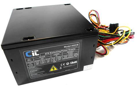 Power Supplay 500w Okaya 500cb cit 500w 20 24pin atx psu power supply ebay