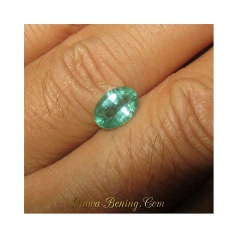batu zamrud zambia kualitas bagus oval cut 1 17 carat ada memo asli