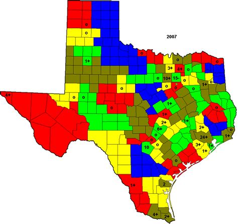 texas house district map texas house districts based on 2007 county estimates