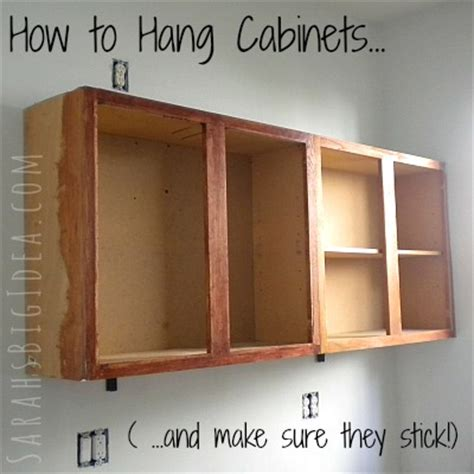How Do You Hang Kitchen Wall Cabinets by How To Hang Cabinets S Big Idea