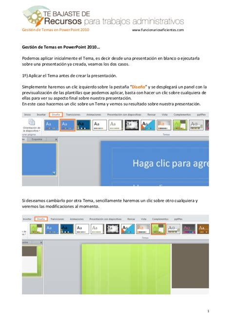 tutorial on powerpoint 2010 como gestionar plantillas o temas en powerpoint 2010