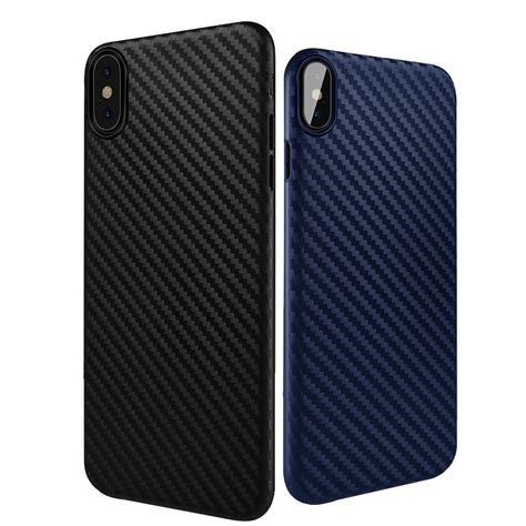 Iphone 77plus Fiber Anti bakeey carbon fiber anti fingerprint pp for iphone x