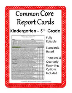 common report card template common report cards for kindergarten through fifth
