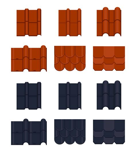 tile roofing icon roof tile vector icons free vector stock