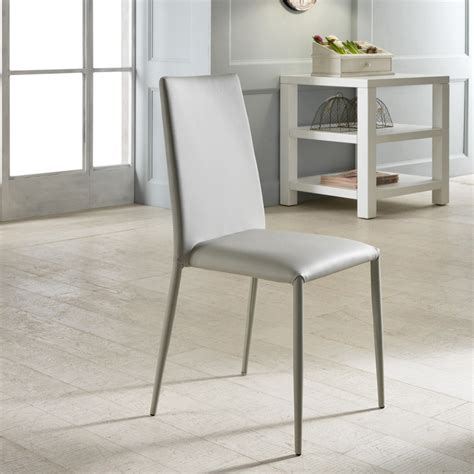 sedie moderne design set 4 sedie moderne in ecopelle bianche grigie o tortora